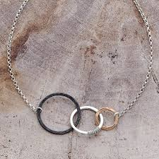 past present future necklace sterling