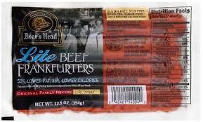 Boars Head Lite Beef Frankfurters 12 5 Oz Nutrition