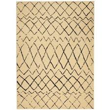 black and cream rug. Nourison Grafix 5\u00273\ Black And Cream Rug