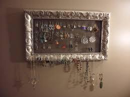 Jewelry Wall Organizer How To Make A Jewelry Organizer Peeinncom