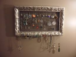 Hanging Necklace Organizer How To Make A Jewelry Organizer Peeinncom