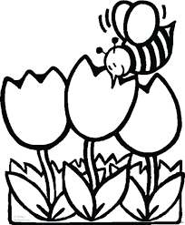 Spring Flowers Coloring Pages For Kids Printable Free Coloing Within