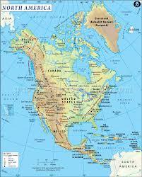 north america map  map of north america