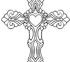 Coloring Page Cross Pt9f Cross Coloring Sheets Cross Coloring Sheet