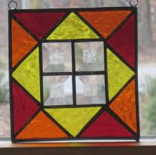 Easy Stained Glass Patterns Classy Stained Glass Suncatcher Quilt Pattern In Yellow Orange Flickr