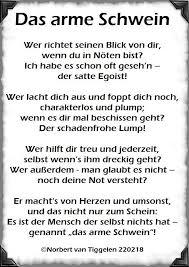 Das Arme Schwein Wer Richtet Seinen Gedichte Von Norbert Van