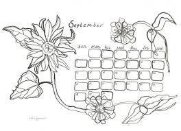 Kalender September 2014 Kleurplaat Afbeelding Voor Desktop En