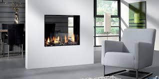 modern gas fireplace see through fireplace