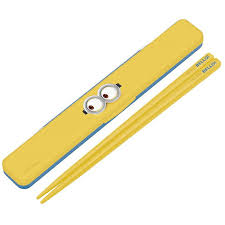 i do chopsticks the chopstick case セットハシ 18cm character minion which does not sound of the sound and chopsticks chopstick case lunch lunch child kids