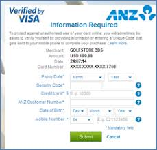 By Verified Visa Anz Verified By