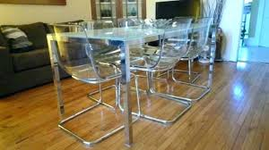 glass kitchen table and chairs dining room top ikea canada