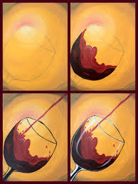 how to paint wine glass canvas