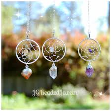 Dream Catcher With Crystals Crystal Suncatchers 44