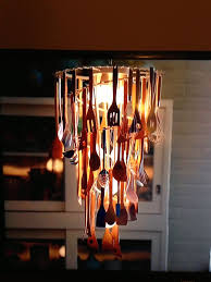 chandelier made from gita cutlery
