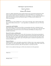 custody agreement examples template template for child custody agreement best solutions of