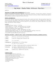 Cover Letter Certified Welder Resume Certified Welder Resume
