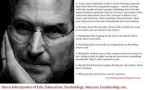 Steve Jobs Quotes On Life Mesmerizing Steve Jobs Famous Quotes And Biography Job Vacancy Opportunity