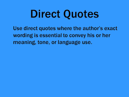 Direct Quote New Using Direct Quotes In Essays