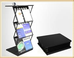 Folding Literature Display Stands Folding magazine rack with table topfolding literature stand 2