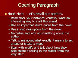 to kill a mockingbird tone and mood essay ppt video online  7 opening paragraph hook