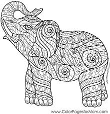 Elephant Coloring Pages For Kids Trustbanksurinamecom