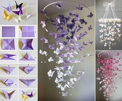 wall decor ideas with paper recycled things butterfly decoration