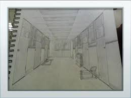 hallway vanishing point. the one point perspective drawing came out really well and details involved show up real good even vanishing still plays a role on to hallway