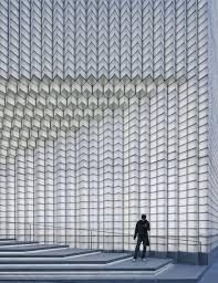 detail of glass block assembly at main entrance shengliang su