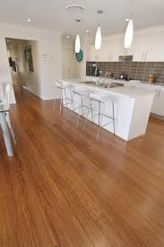 Ideas of the Beautiful Bamboo Floors for Kitchen : Modern And Chic White  Kitchen Decoration Using