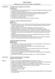 Event Manager Resume Samples Events Marketing Manager Resume Samples Velvet Jobs