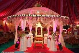 outdoor wedding lighting decoration ideas. Indian Outdoor Wedding Lights Decorations With Small Canopy And White Covered Chairs Also Long Fabric Lighting Decoration Ideas
