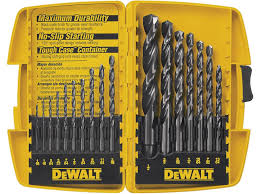 17 32 drill bit. dewalt dw1167 17-piece black-oxide split-point twist drill bit assortment 17 32 b