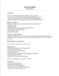 ... Winsome Design Banquet Server Resume 7 Free Banquet Server Resume  Template ...