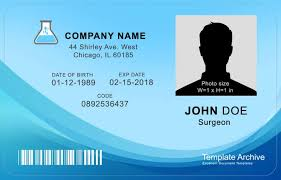 Company Id Badge Template 16 Id Badge Id Card Templates Free Template Archive