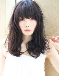 黒髪パーマ小顔ナチュラルロングhi 96 ヘアカタログ髪型ヘア