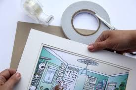 make your own art prints preparing to assemble