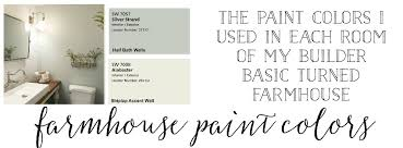 farmhouse paint colorsPlum PrettyFarmhouse Paint Colors The Paint Colors I Used In Each