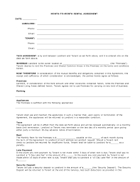 Month To Month Lease Agreement Example Free Arizona Month To Month Agreement Form PDF Template Form 9
