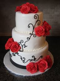 Red Rose Wedding Cakes Diary Of A Cakeaholic
