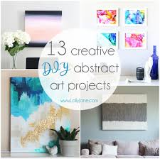 13 creative DIY abstract wall art projects that will add some beauty to  your walls.