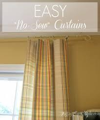Diy No Sew Curtains Diy No Sew Projects Pillows Curtains Shades And More Artsy
