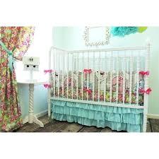 green crib bedding set beautiful bird baby aqua pink mint arrow embroidery