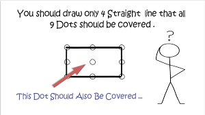 In order to complete this puzzle, you must literally think outside the box! 9 Dots Puzzle With Solutions How To Connect 9 Dots With 4 Straight Lines Puzzles4u