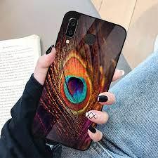 Ốp điện thoại kính cường lực cho máy Samsung Galaxy A50 - chim công phượng  MS CHIM 024 - Hàng Chính Hãng