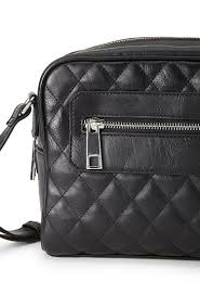 Forever 21 Quilted Faux Leather Crossbody Bag in Black | Lyst & Gallery Adamdwight.com