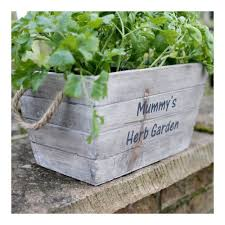 personalised wooden planters personalised wooden planters