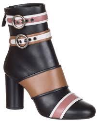 Lanvin Shoes Size Chart Lanvin Womens Black Nappa Leather Colorblock Ankle Boots Shoes