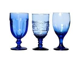 cobalt blue goblets loading libbey glasses