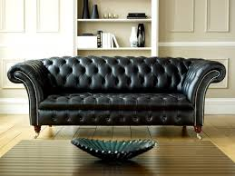 Interesting Black Leather Couch Very Much This Chesterfieldor A Version Throughout Concept Ideas