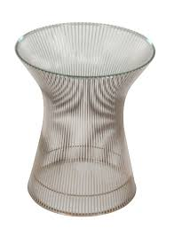 Image Marble Warren Platner Nickel Plated Steel Wire Side Table Avery Dash Collections Warren Platner Nickel Plated Steel Wire Side Table Avery Dash